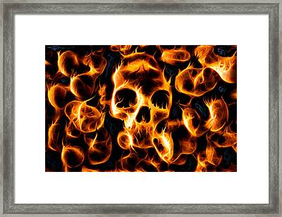 Skulls Of Fire Framed Print by Ian Hufton