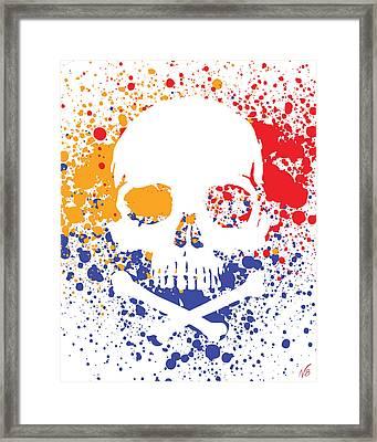 Skullz  Framed Print by Decorative Arts