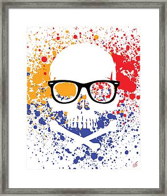Skullz Ray-ban Wayfarer Framed Print by Decorative Arts