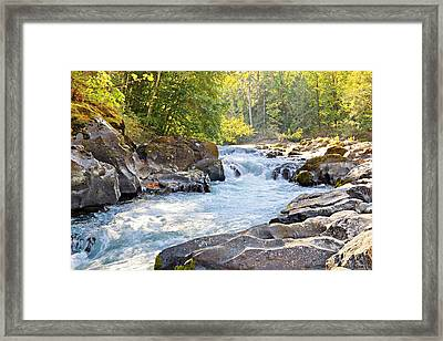Skutz Falls At Cowichan River Provincial Park Framed Print