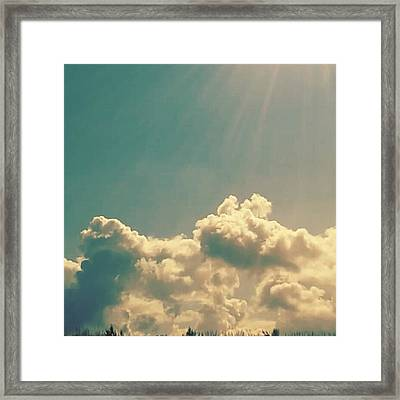 Sky & Sea Framed Print