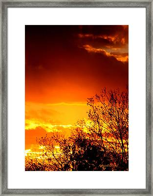 Sky Ablaze Framed Print by Russell  King