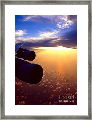 Framed Print featuring the photograph Sky Above 30000 Feet  by Aiolos Greek Collections