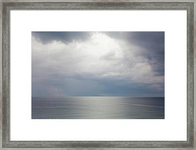 Sky And Cloudscape, Rhodes, Greece Framed Print by Peter Adams