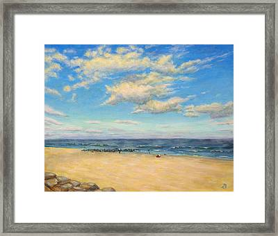 Framed Print featuring the painting Sky And Sand by Joe Bergholm