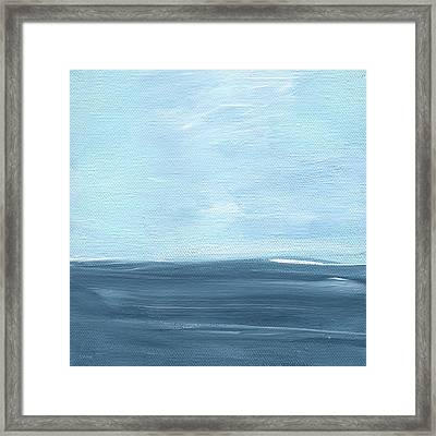 Sky And Sea Framed Print by Linda Woods