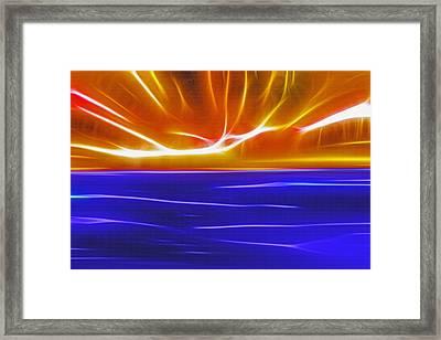 Sky And Water 2 - Fractal Framed Print by Steve Ohlsen