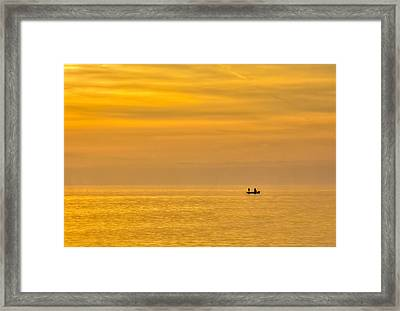 Sky And Water Framed Print by Marvin Spates