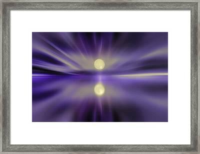 Sky And Water - Moonrise Framed Print by Steve Ohlsen