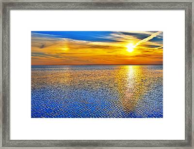 Sky And Water Sunset Outer Banks I Framed Print by Dan Carmichael