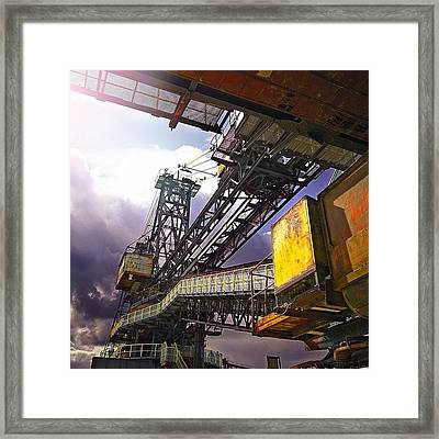 #sky #architecture #industrie #summer Framed Print