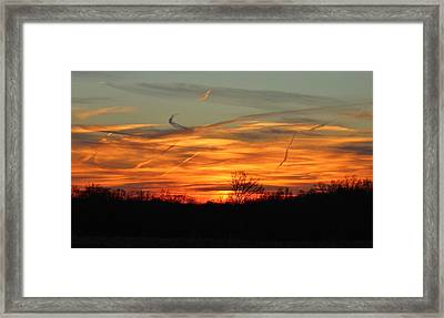 Sky At Sunset Framed Print