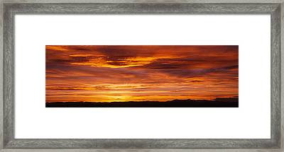 Sky At Sunset, Daniels Park, Denver Framed Print by Panoramic Images