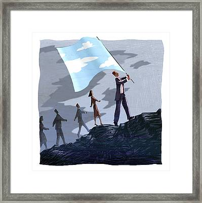 Sky Banner Framed Print by Steve Dininno