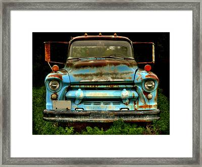 Sky Blue And Still Cool Framed Print