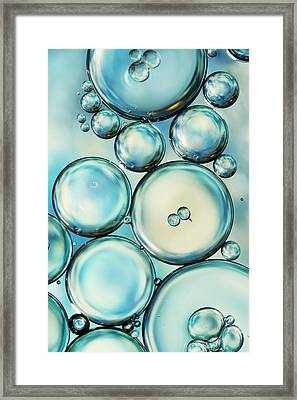 Sky Blue Bubble Abstract Framed Print