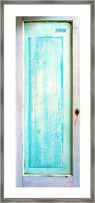 Sky Blue Entrance Entre Vous Framed Print by Asha Carolyn Young