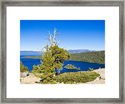 Sky Blue Water - Emerald Bay - Lake Tahoe Framed Print