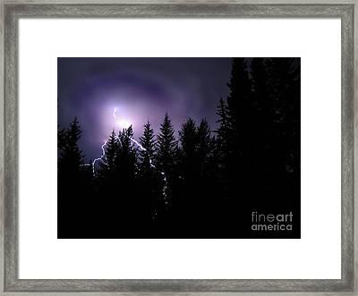 Sky Bolt Framed Print