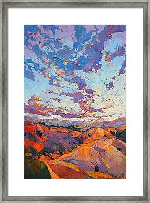 Sky Break Framed Print