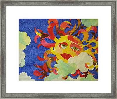 Framed Print featuring the mixed media Sky Buddies by Diane Miller
