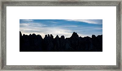 Sky Castles - The Mojave Framed Print by Peter Tellone