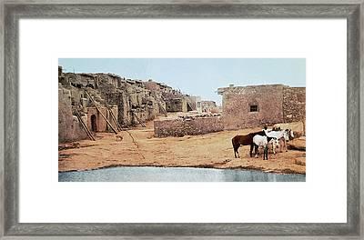 Sky City Acoma Pueblo Framed Print