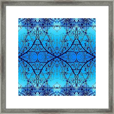 Sky Diamonds Abstract Photo Framed Print