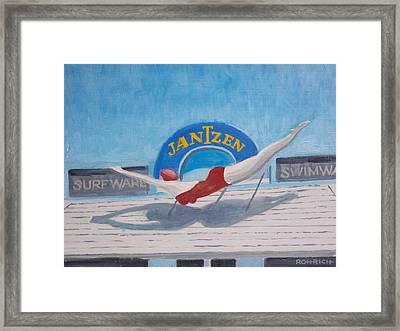 Sky Dive Framed Print by Robert Rohrich
