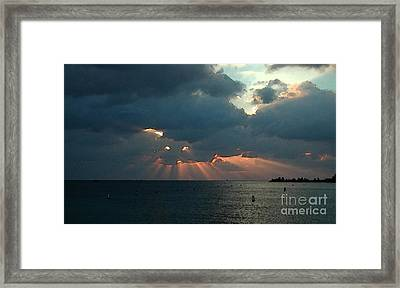 Sky Dragon - Florida Keys Framed Print