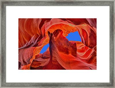 Framed Print featuring the photograph Sky Eyes In Antelope Canyon by Greg Norrell
