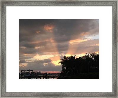 Sky Eyes Framed Print
