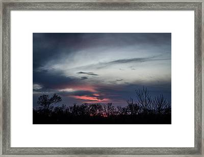 Sky Faces Framed Print by Kelly Kitchens