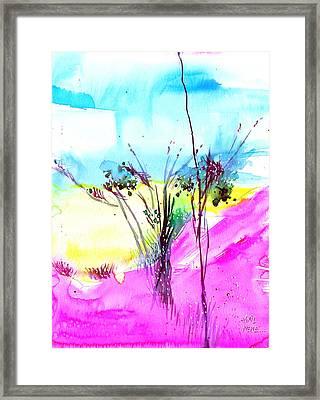 Sky Fall Framed Print by Anil Nene
