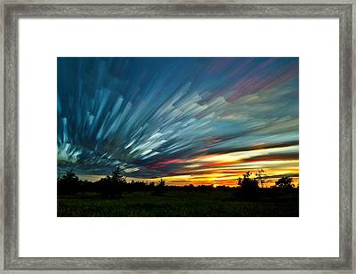 Sky Feathers Framed Print