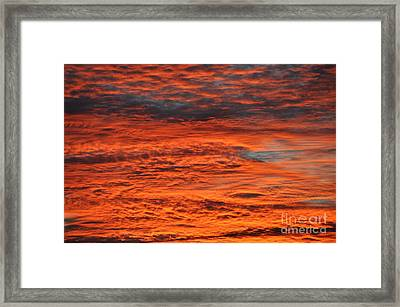 Sky Fire  Framed Print