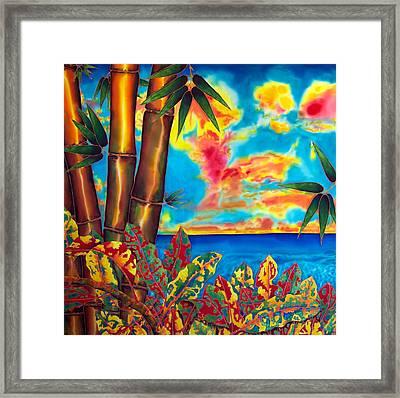 Sky Fire Framed Print by Daniel Jean-Baptiste
