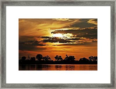 Sky Fire Framed Print by Liudmila Di
