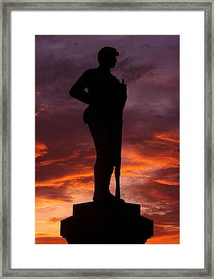 Sky Fire - New York At Gettysburg - 84th Ny Vol Infantry 14th Brooklyn Regiment Red Legged Devils Framed Print