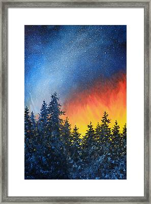 Sky Fire Framed Print by Richard De Wolfe