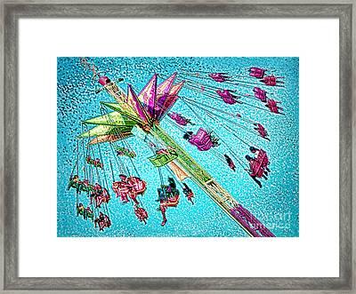 Framed Print featuring the digital art Sky Flyer by Jennie Breeze