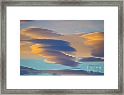 Sky Ghosts... Framed Print by Nina Stavlund