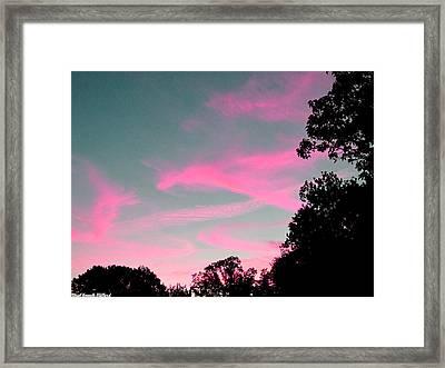 Sky Glow Framed Print by Aeabia A