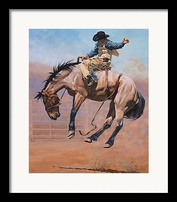 Saddles Framed Prints
