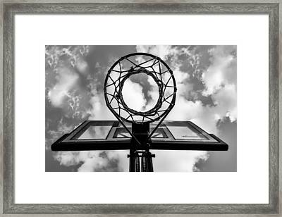 Sky Hoop Basketball Time Framed Print