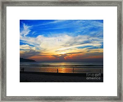 Sky Hues Framed Print