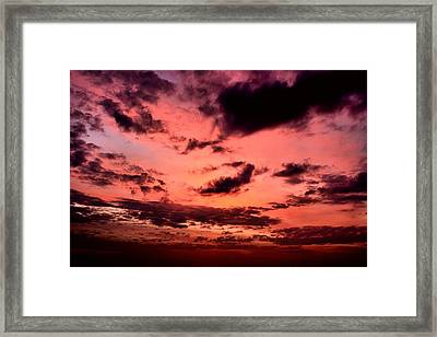 Sky In Fire. Framed Print by Siti  Syuhada