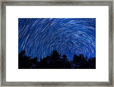 Sky In Motion Framed Print