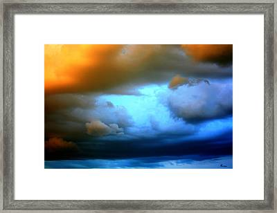 Sky In Peril Framed Print by Andrea Lawrence