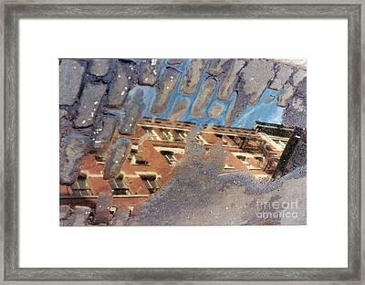 Sky In The Street Framed Print by Alex B